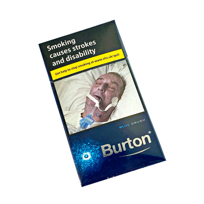 Burton Blue Menthol Crushball Cigarillo 10 Pack