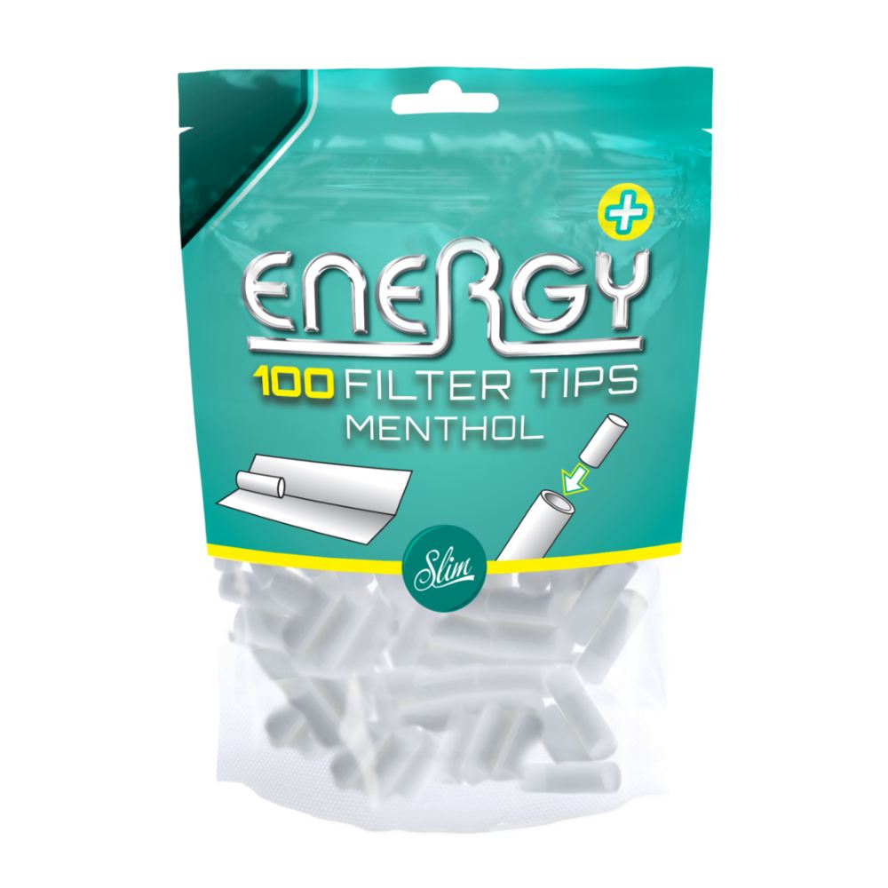 Energy Slim Menthol Filter Tips Bags 100's