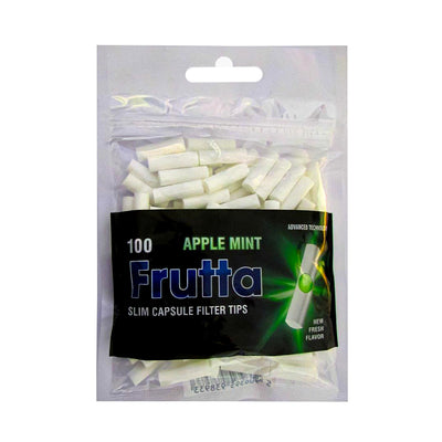 Frutta Apple Mint Slim Capsule Filter Tips Bag of 100
