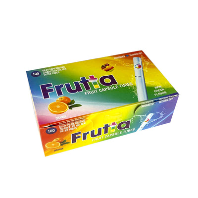 Frutta Orange Flavoured Capsule Tubes for Cigarettes 100 Pack