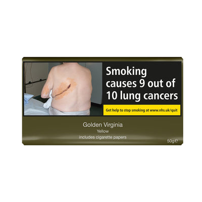 Golden Virginia Yellow 50g Pouch Rolling Tobacco With Papers