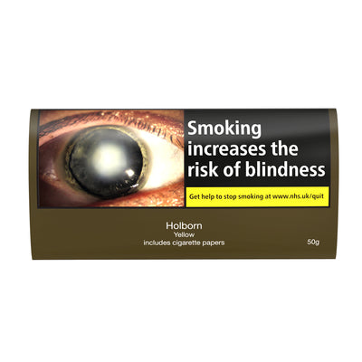 Holborn Yellow Hand Rolling Tobacco With Papers