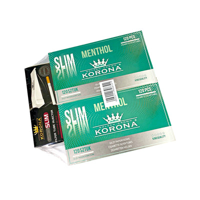 Two Box Menthol Filter Tubes and Filter Tube Injector Combo Pack from Korona
