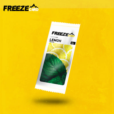 Freezecard Lemon Menthol Flavour Card