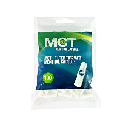 MCT Menthol Filter Tip Capsules for Cigarettes 100 Pack