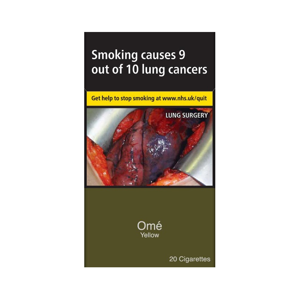 Omé YELLOW Cigarettes 20 Pack
