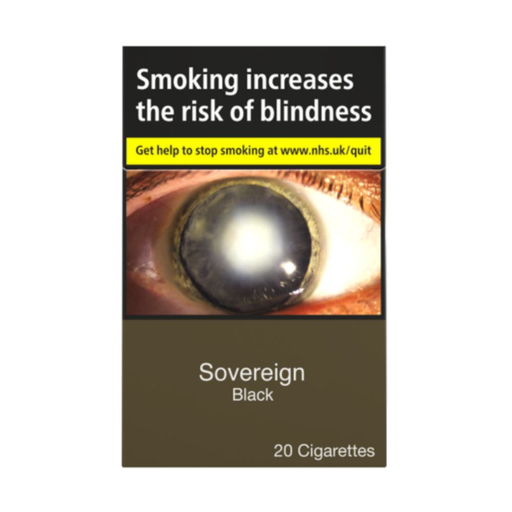Sovereign Black Cigarettes 20 Pack