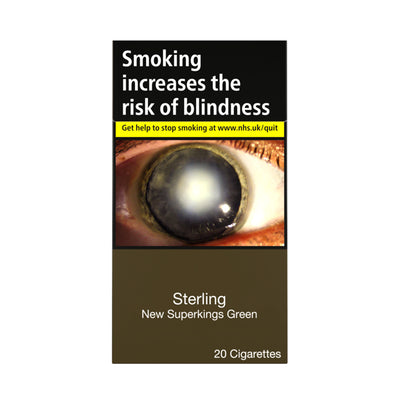 Sterling New Superkings Green Cigarettes 20 Pack