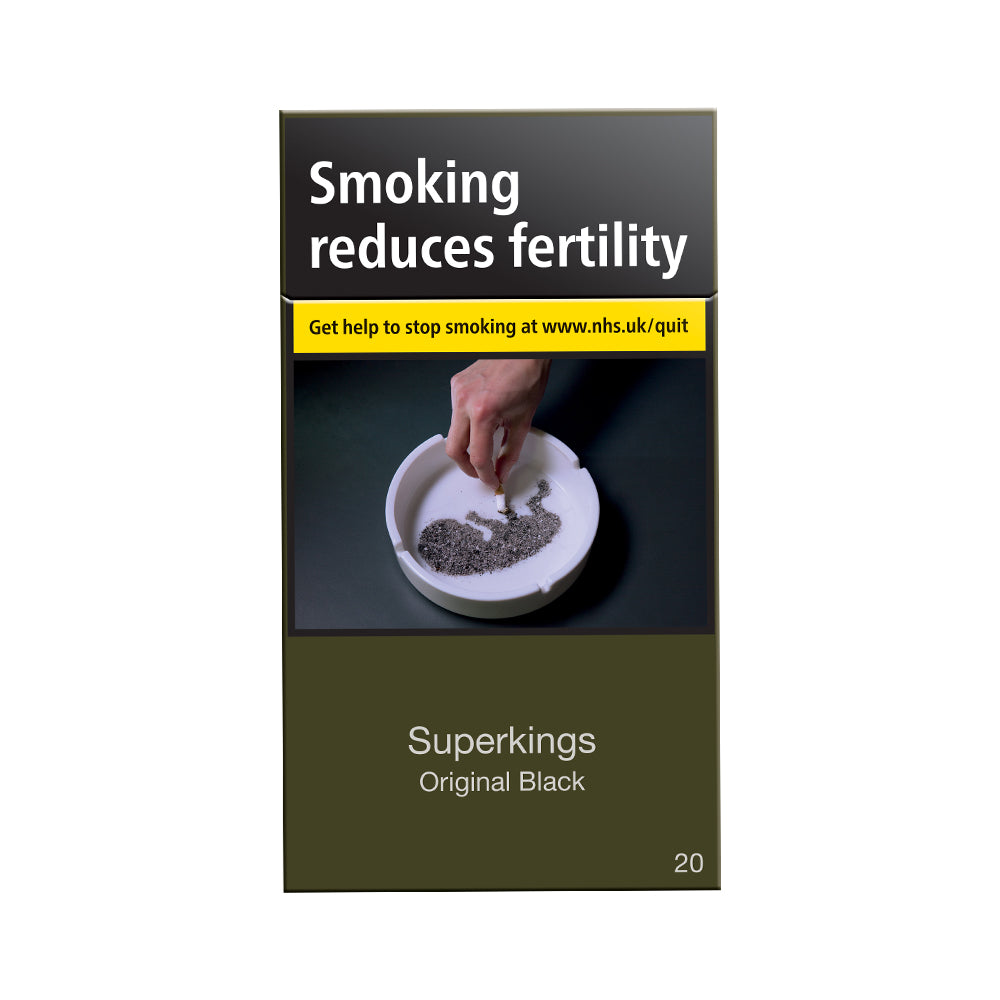 Superkings Original Black 20s Cigarettes