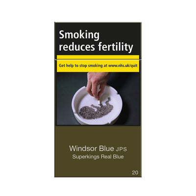 Windsor Blue JPS Superkings Real Blue Cigarettes 20 Pack
