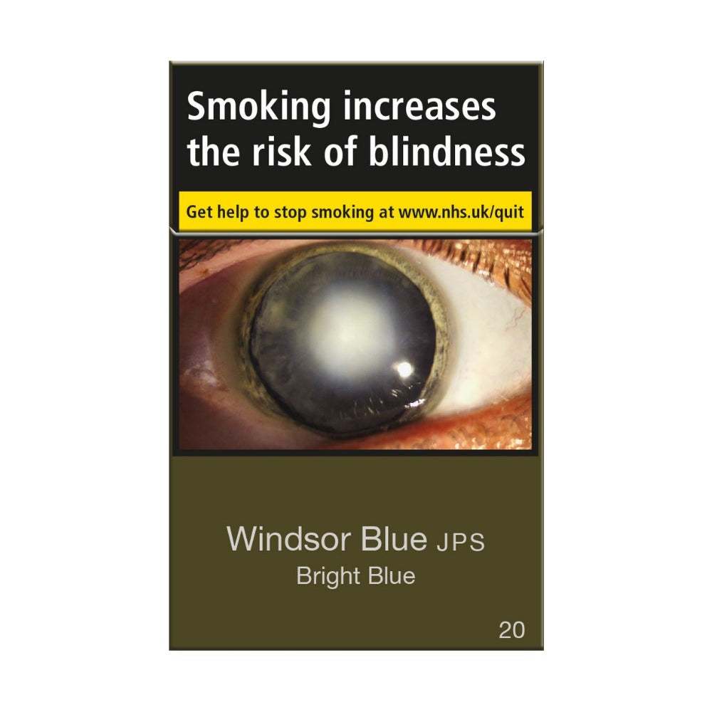 Windsor Blue JPS Bright Blue 20s Cigarettes