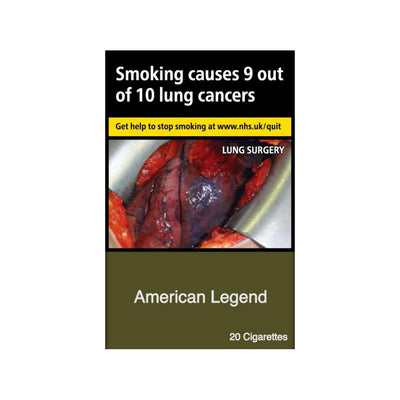 American Legend Cigarettes 20 Pack