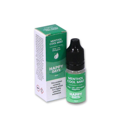 Happy Days Menthol Cool Mint Flavoured E-Liquid