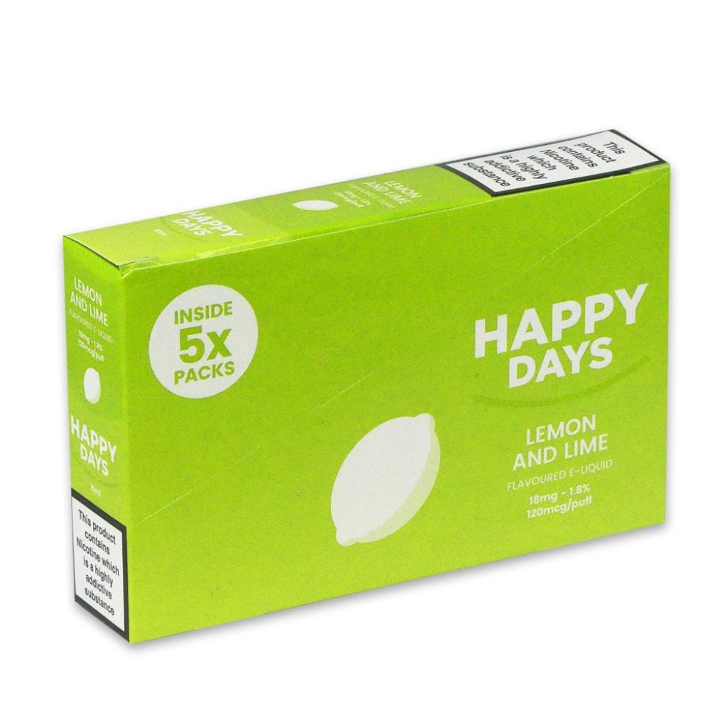 Happy Days Lemon & Lime E-Liquid 18mg