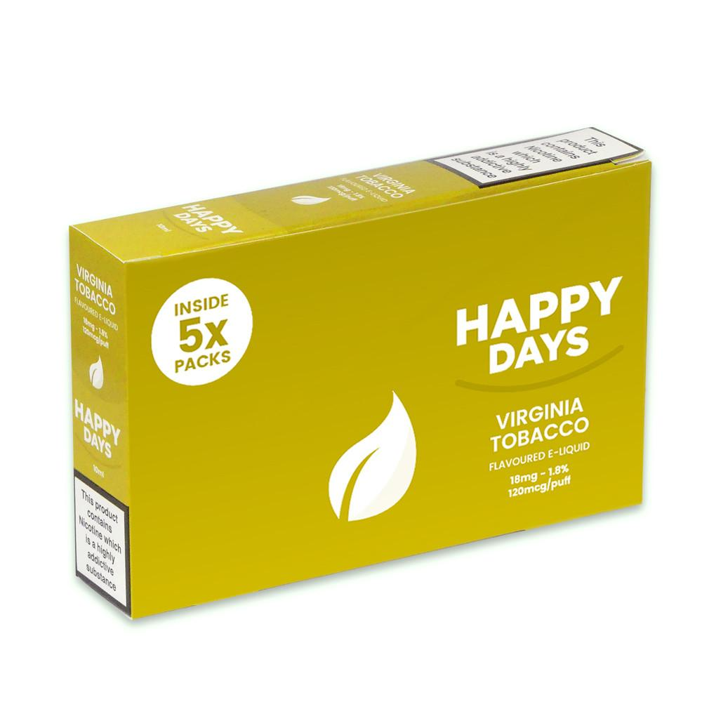 Happy Days Virginia Tobacco Flavoured E-Liquid