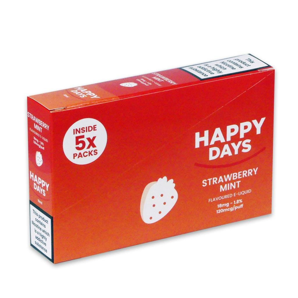 Happy Days Strawberry Mint E-Liquid 18mg