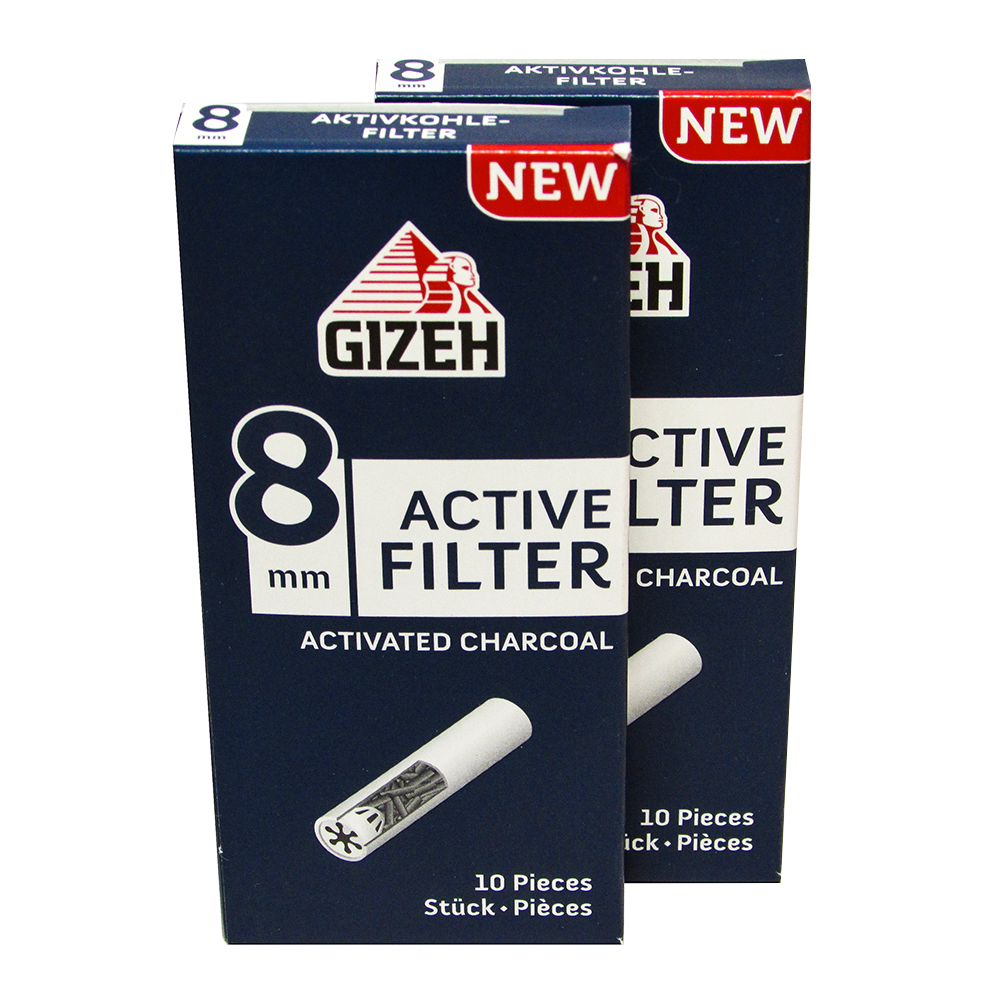 Gizeh Active Charcoal 8mm Filter Tips