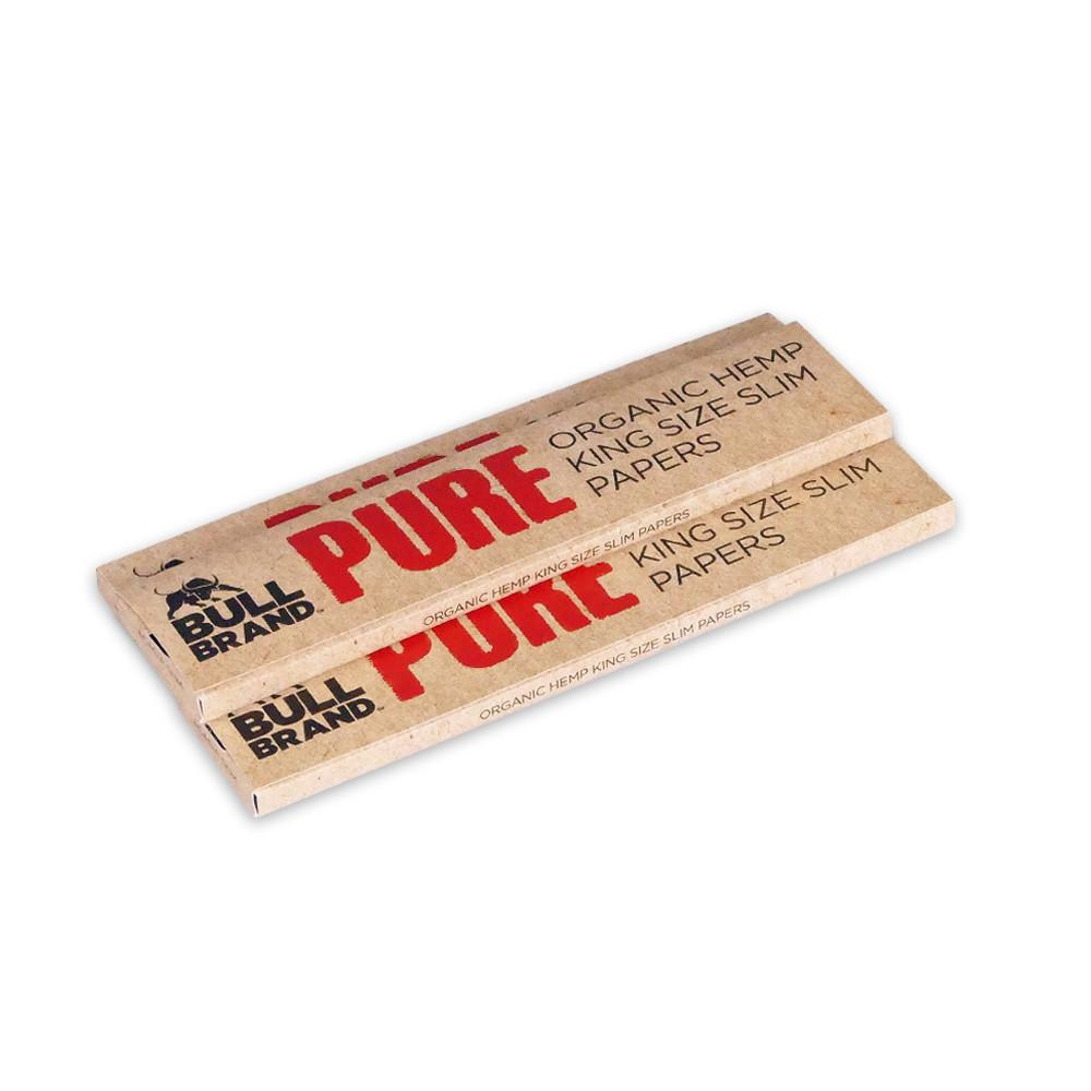 Bull Brand King Size Slim Pure Rolling Papers 3 Pack