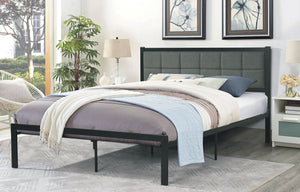 Bed - Grey Fabric Headboard  IF-105