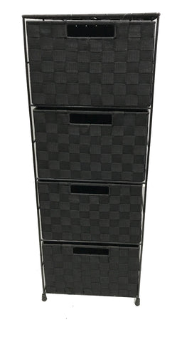 4 Tier Black Nylon Drawer ITY-DYT-4BK