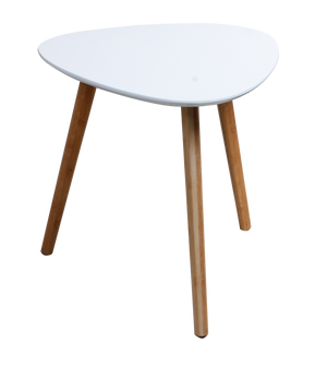 White triangular MDF table - ITY 20145