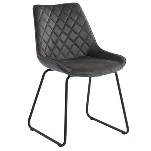 CALVIN-SIDE CHAIR-CHARCOAL 2Pc
