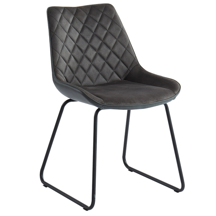 CALVIN-SIDE CHAIR-VINTAGE CHARCOAL - 2 Pcs