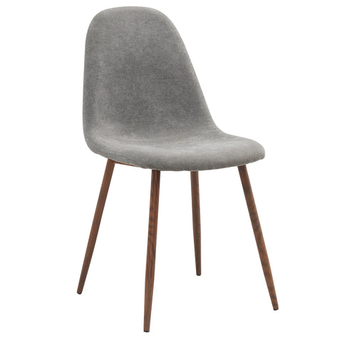 LYNA-SIDE CHAIR-GREY 4Pc