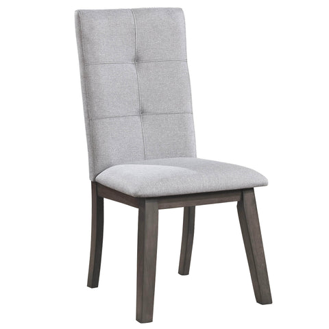 ASHLAND-SIDE CHAIR-GREY 2Pc