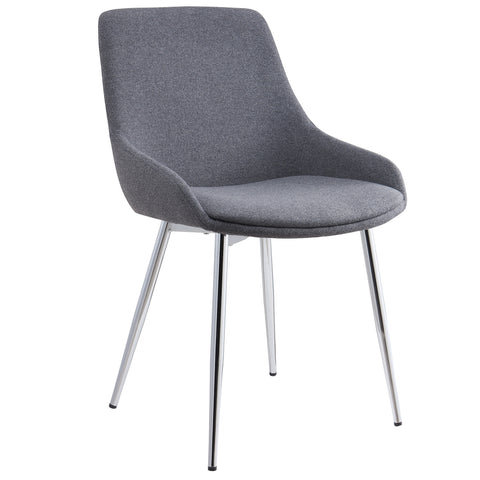 CASSIDY-SIDE CHAIR-GREY 2Pc