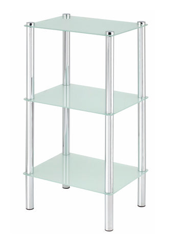 3 Tier Rectangular Frosted Glass Shelves - ITY L001