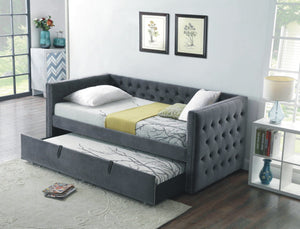 Day Bed - Grey Velvet with Tufting  IF-305