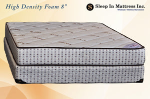 "Mattress - 8"" Hi-Density Foam - Organic Cotton"