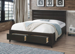 Bed - Wooden with Storage Drawers  IF-421