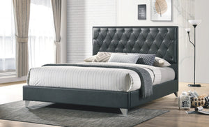 Bed - Grey Vinyl with Chrome Legs  IF-5226