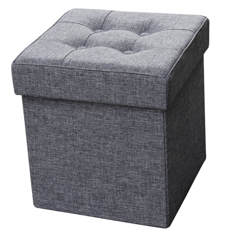Folding Storage Ottoman - Fabric Square ITY 60055 /6 /7
