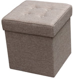 Folding Storage Ottoman - Fabric Square