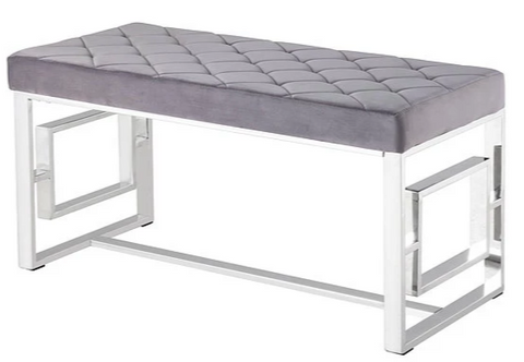 Chrome Bench - Various Fabric Colours - IF-6610 / 6611 / 6612