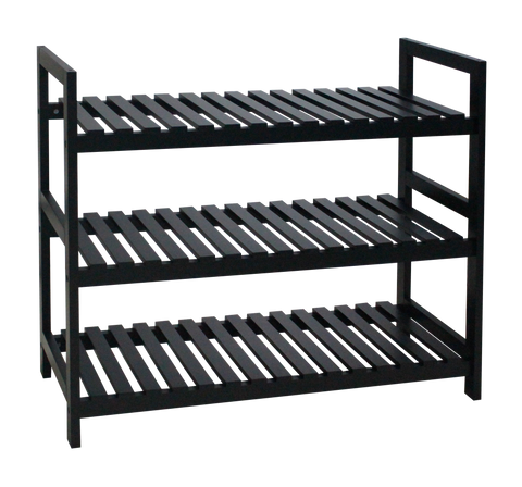 3 tier MDF Shoe Rack , Black - ITY20086
