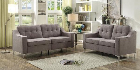 COUCH FURNITURE - UPHOLSTERED IN GREY FABRIC MZ-9248