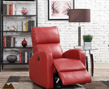 Accent Power Recliner - Black, Red, Brown or Charcoal
