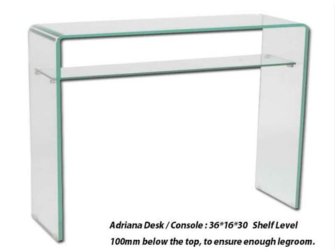 Adrianna Console Table - Modern Glass