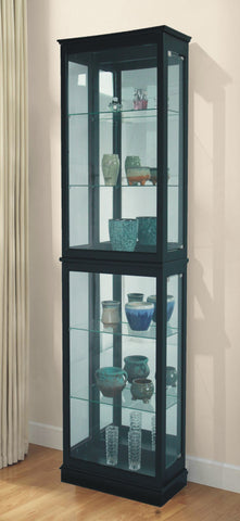 FLOOR STANDING CURIO CABINET - BLACK - CLEARANCE