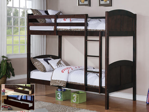 Single/Single Bunk Bed - Espresso