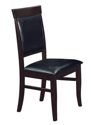 Chair Only, Black with Espresso - C-1051