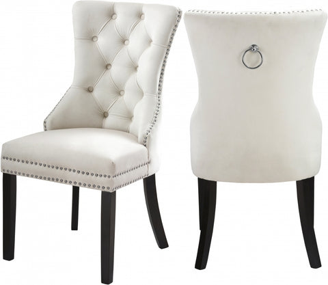 Velvet Dining Chair - Beige  C-1223