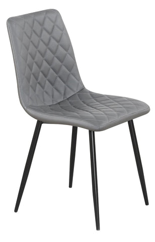 Chair Only - Grey Vinyl with Diamond Pattern - C 1712