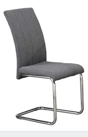 Chair Only Dark Grey and Chrome  C-1780