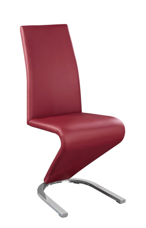 Chair only - Z Shape Red   C-1788