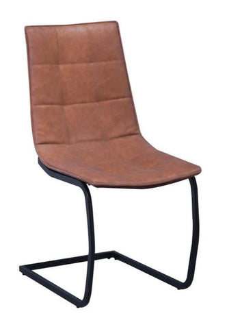 Chair Only - Amber Brown Vinyl with Black Metal Legs  C-1830